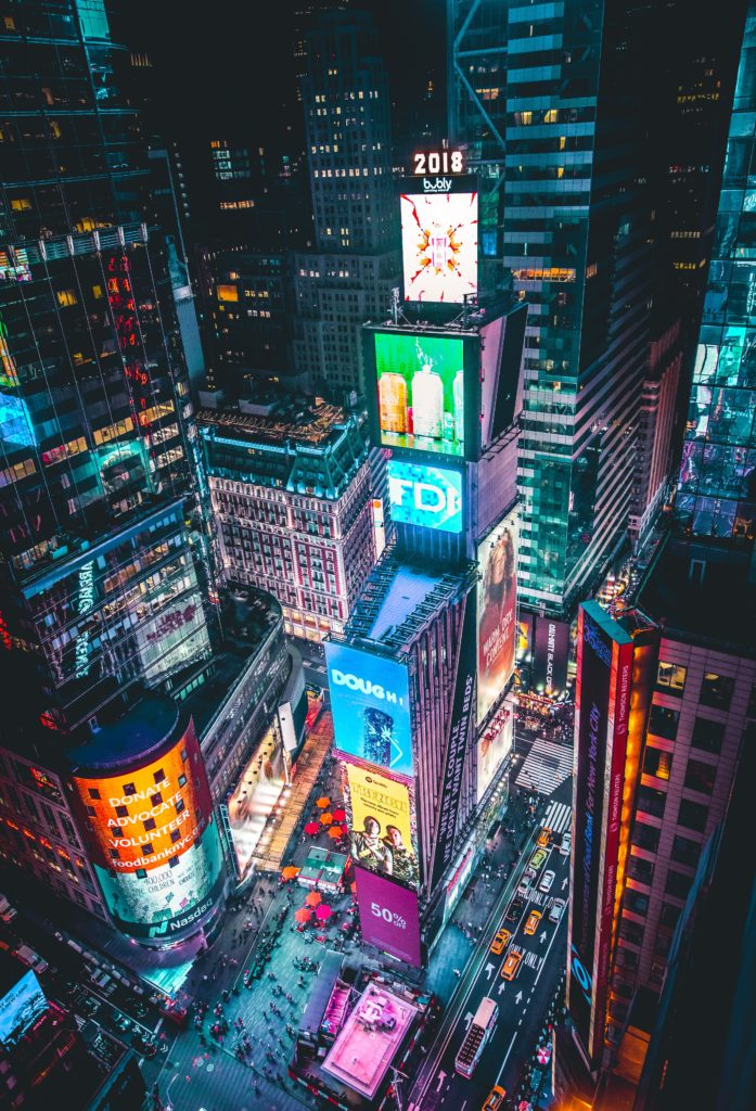 Times Square Digital Screens & Billboards Paradise